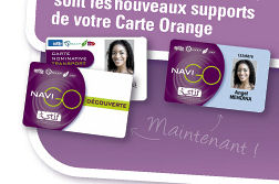 Février 2009 : disparition du coupon orange remplacé par le sans contact du passe Navigo