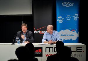 MWC : les clients de Verizon Wireless pourront appeler sur leur mobile via Skype