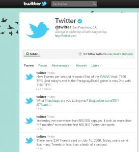 Twitter a fêté ses 5 ans d'existence