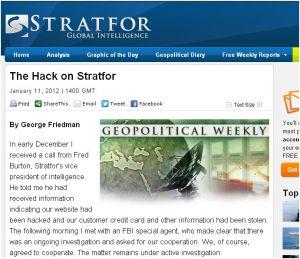 Les e-mails dérobés à Stratfor commencent à être publiés par WikiLeaks