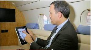 La visioconf�rence HD m�me lors des voyages en avion d'affaire