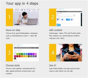 App Studio : 30 000 apps pour Windows Phone en deux jours