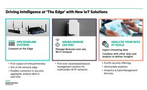 HPE prépare de l'IoT avec Intel, Microsoft et ses divisions Aruba et CMS