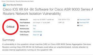 Cisco invite ses clients à corriger plusieurs failles de sécurité urgentes