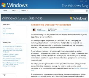 Microsoft critique la virtualisation des postes de travail selon VDI